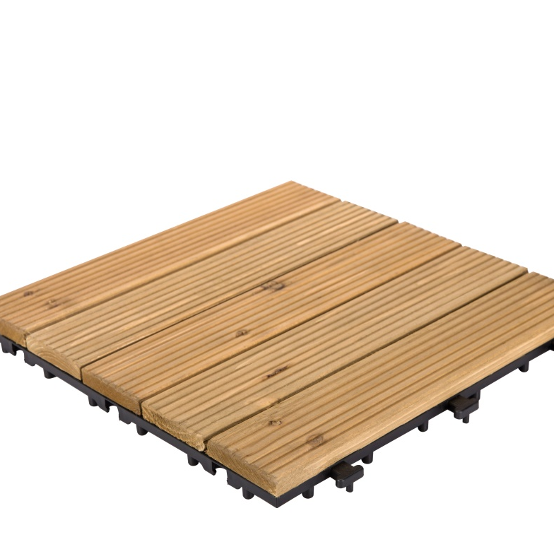 square wooden decking tiles 12x12 patio fir JIABANG Brand