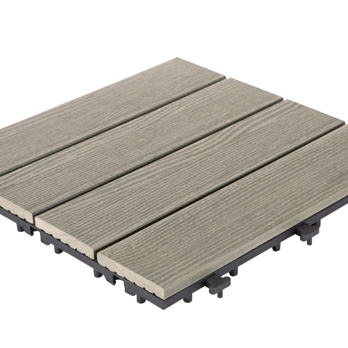 WPC Composite DIY deck tile Floor SM-4P-B BU