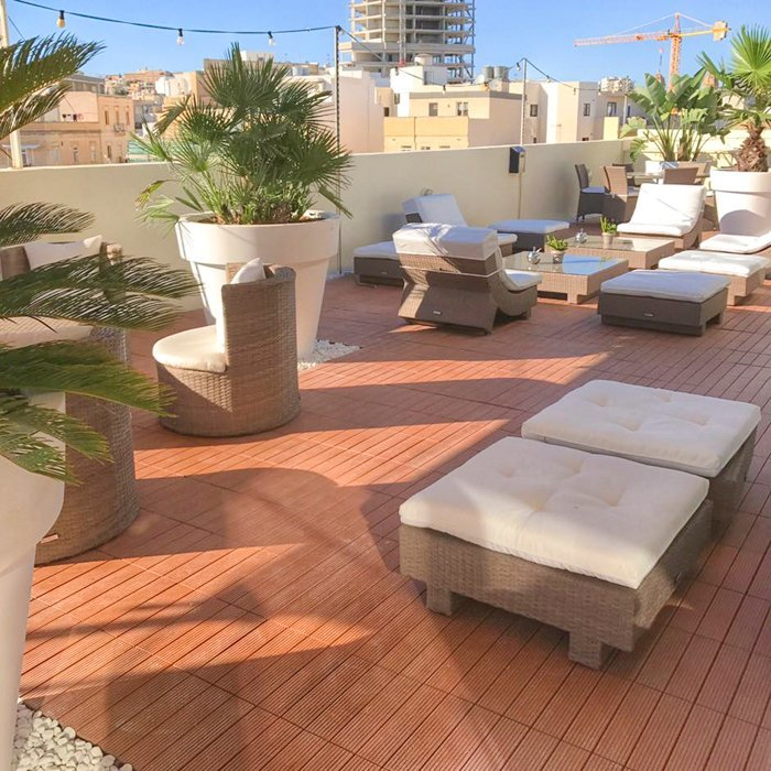 Jiabang WPC (Wood & plastic composite) decking tiles for Malta project