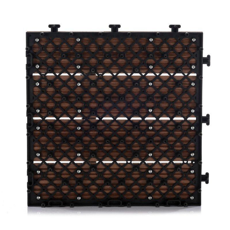 Easy install patio wpc deck tiles SM-4P-A BH