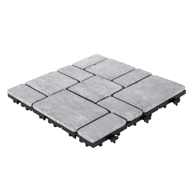 Snap together home stone deck tiles TTS11P-GY