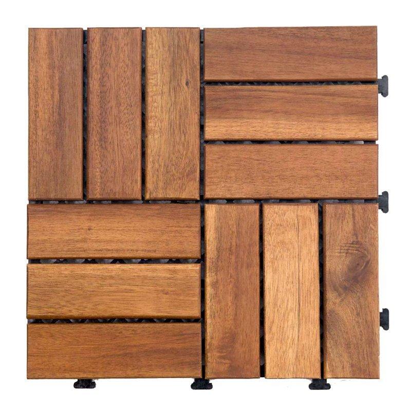 Acacia interlocking outdoor tiles A12P3030PC