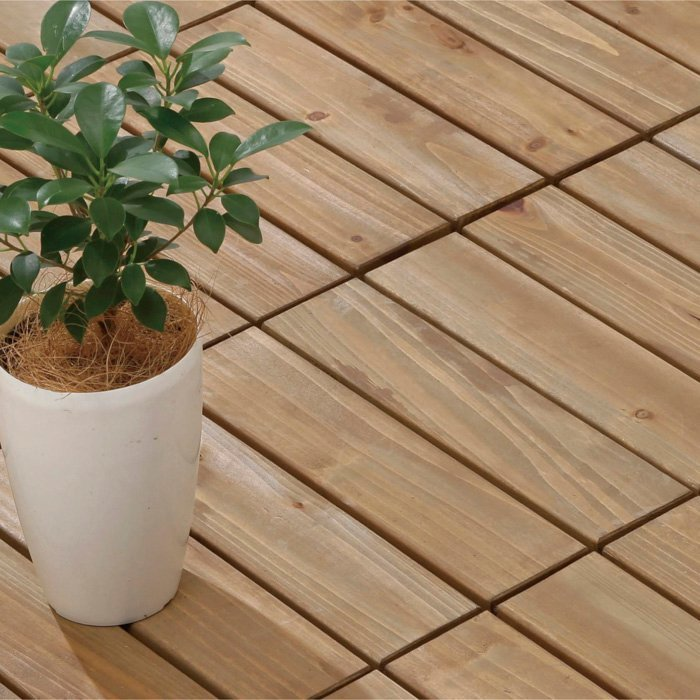 Patio wood deck tiles S4P3030PH
