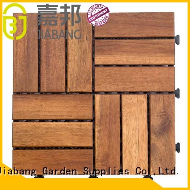JIABANG Brand acacia deck outdoor solid acacia tile flooring tiles