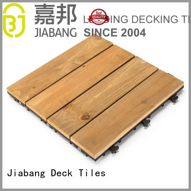 fir wooden 30x90cm square wooden decking tiles JIABANG manufacture