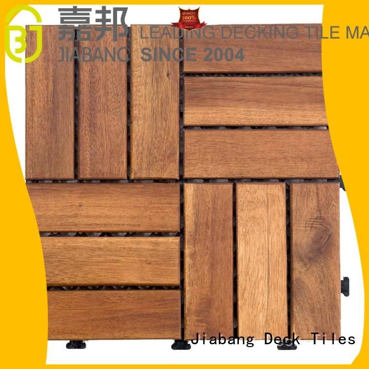 acacia Custom wood solid acacia deck tile JIABANG outdoor