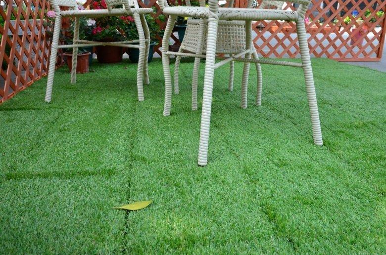 artificial grass deck tile, decking tile