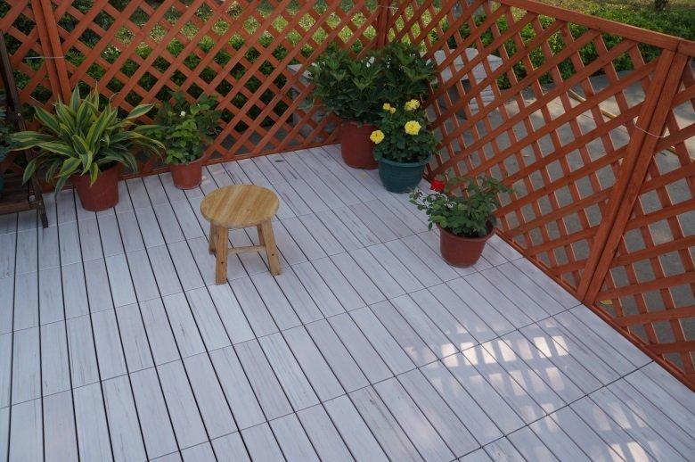 pvc deck tiles lightweight garden JIABANG Brand plastic decking tiles