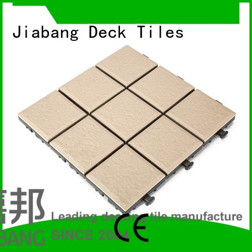 exterior porcelain stg ceramic interlocking tiles JIABANG Brand