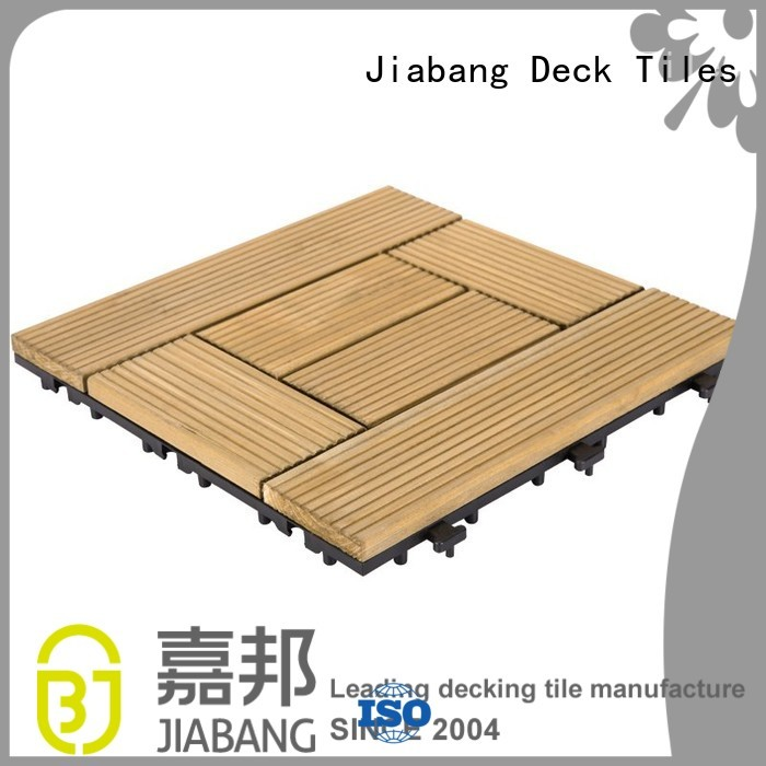 square wooden decking tiles 12x12 decking patio JIABANG Brand interlocking wood deck tiles