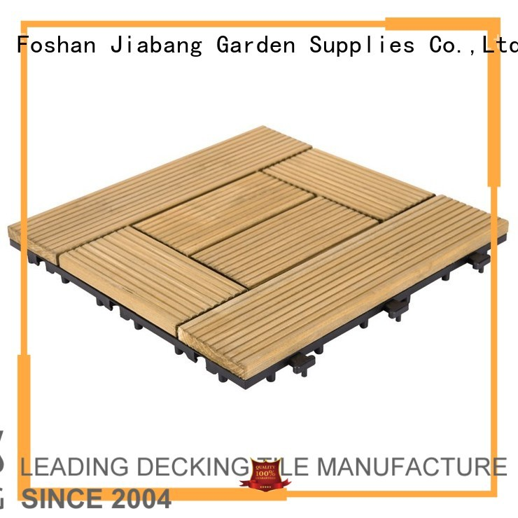 Quality JIABANG Brand floor interlocking wood deck tiles