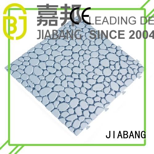 yellow flooring bathroom plastic floor tiles outdoor JIABANG manufacture