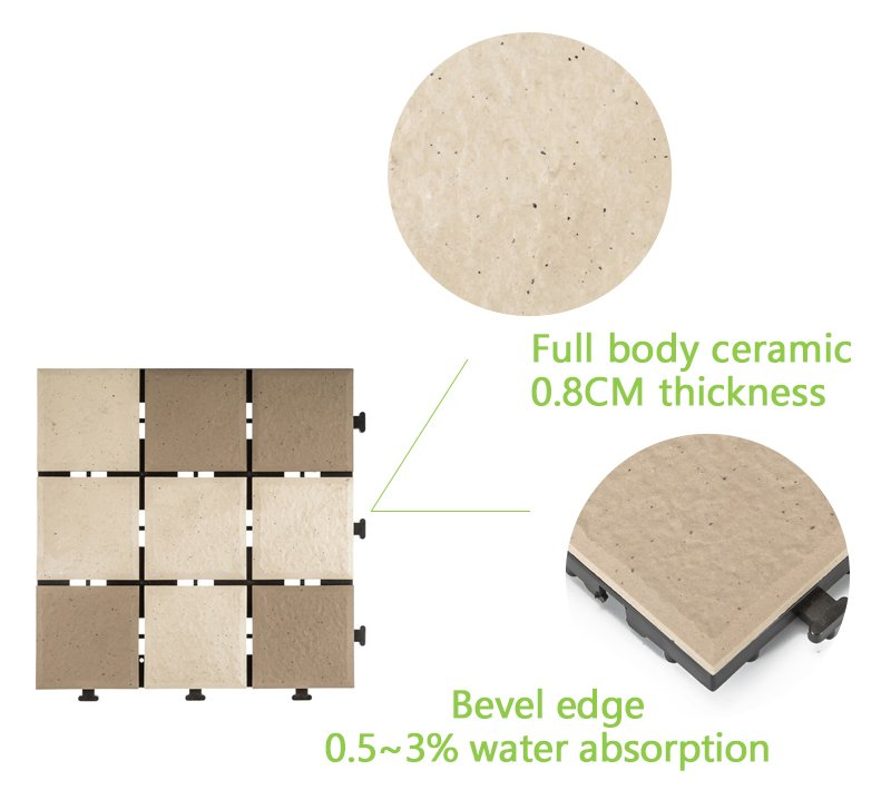 decking  porcelain tile