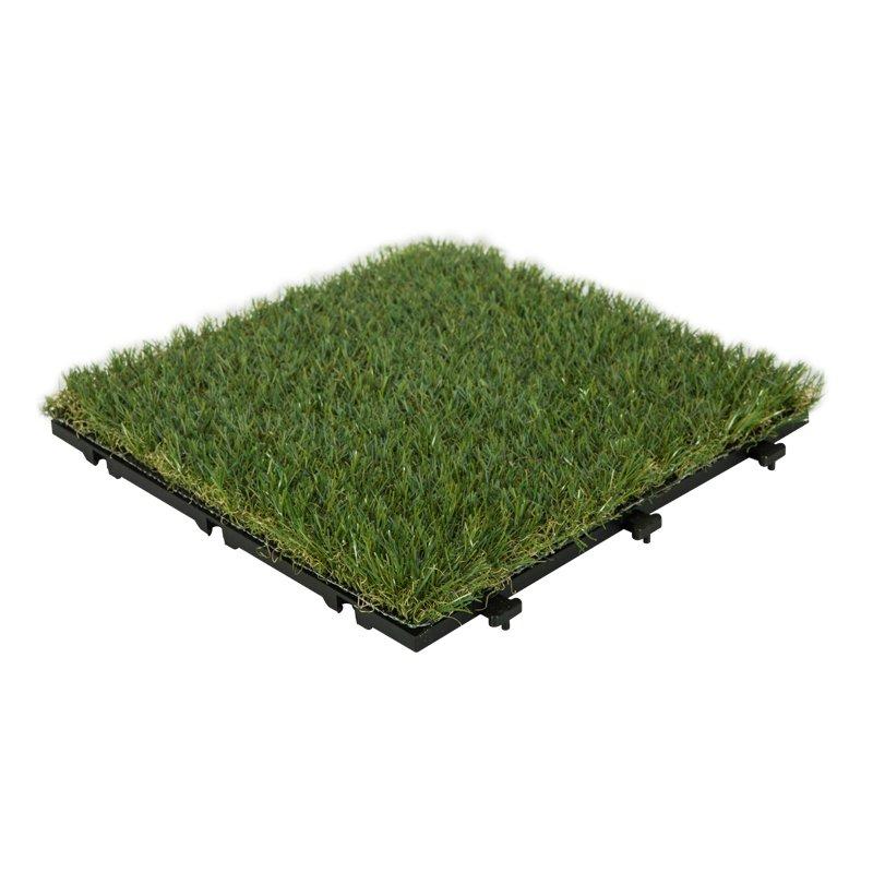 Patio floor artificial grass deck tiles G001