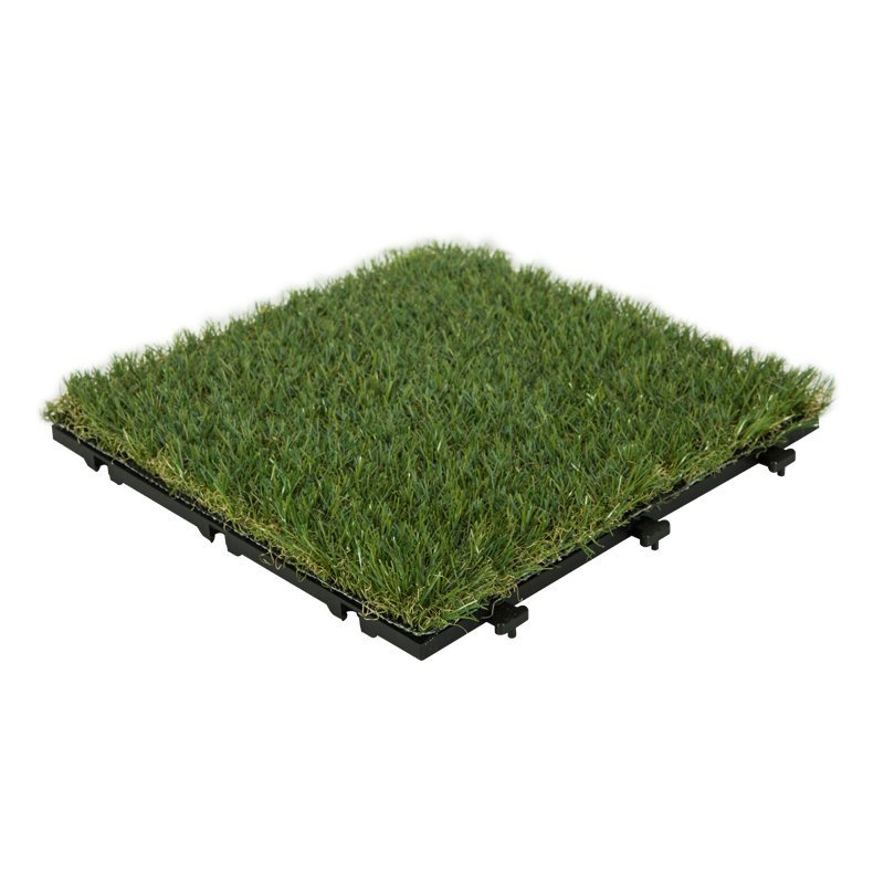 Patio floor artificial grass deck tiles G001