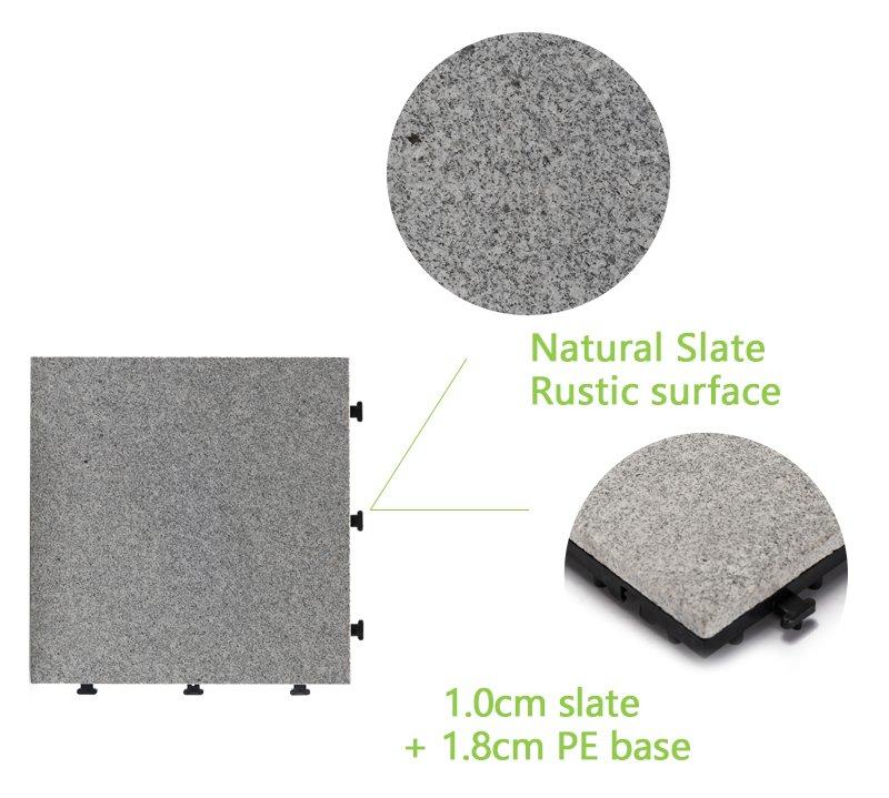inexpensive interlocking patio tiles