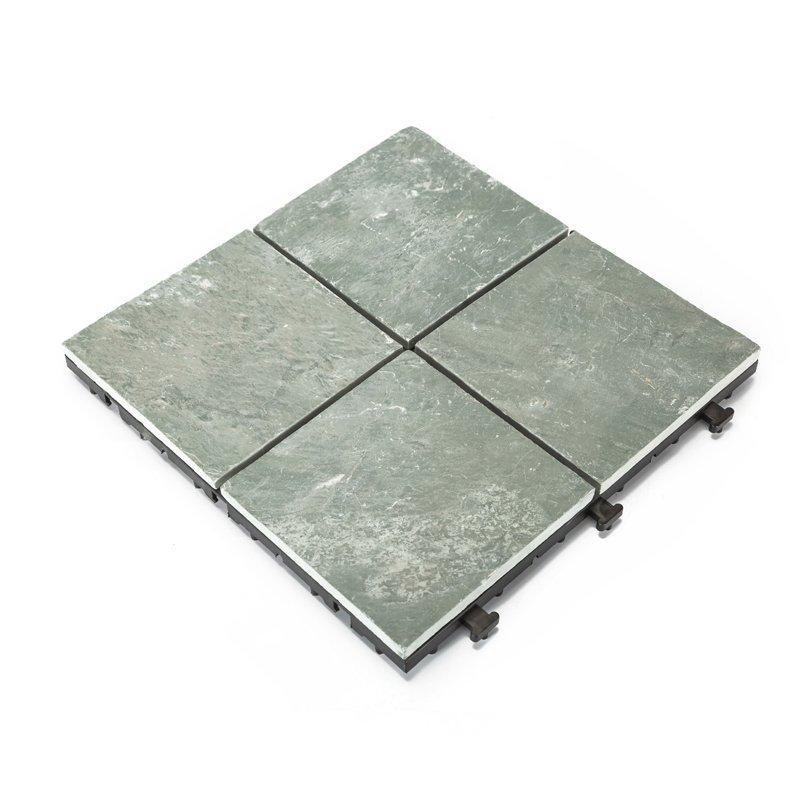 Outdoor natural interlocking slate stone tile online JBT003