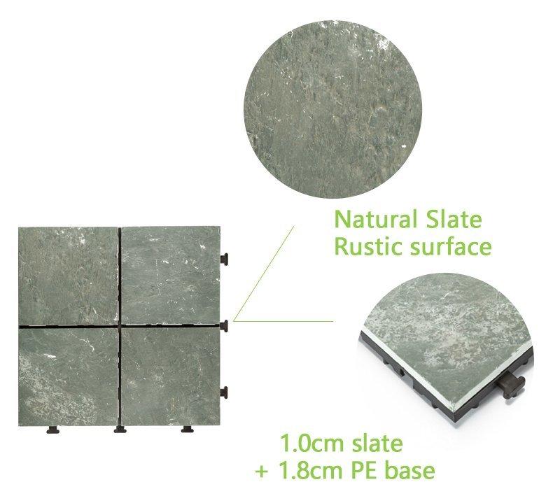 tile slate garden outdoor JIABANG Brand outdoor stone deck tiles manufacture