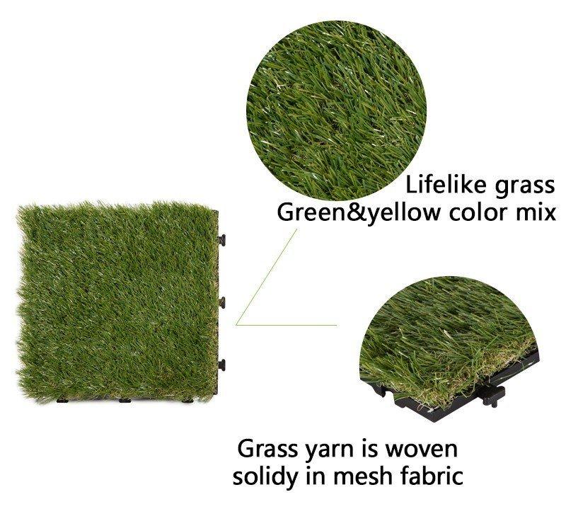 artificial grass deck tile