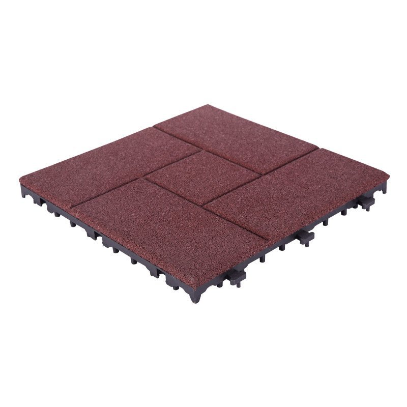 Interlocking Porch Flooring rubber tile XJ-SBR-RD002