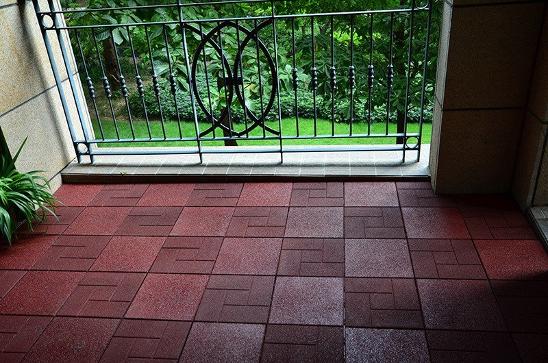 rubber decking tile