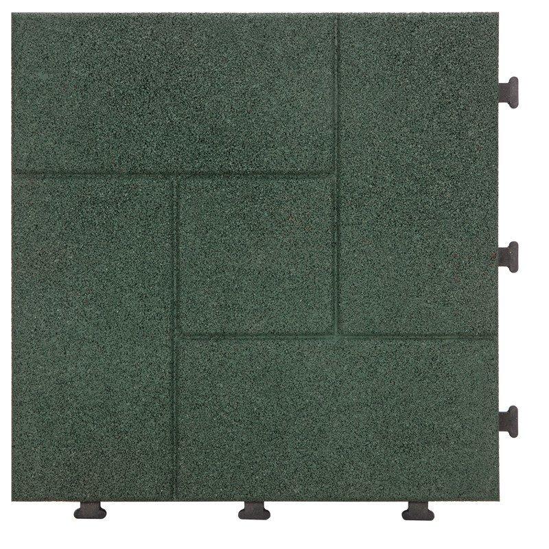 Decking square rubber patio tile XJ-SBR-GN002