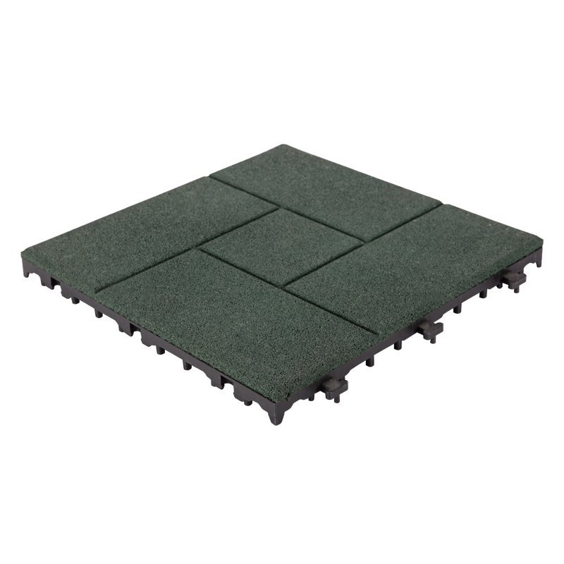 Decking square rubber patio tile XJ-SBR-GN002