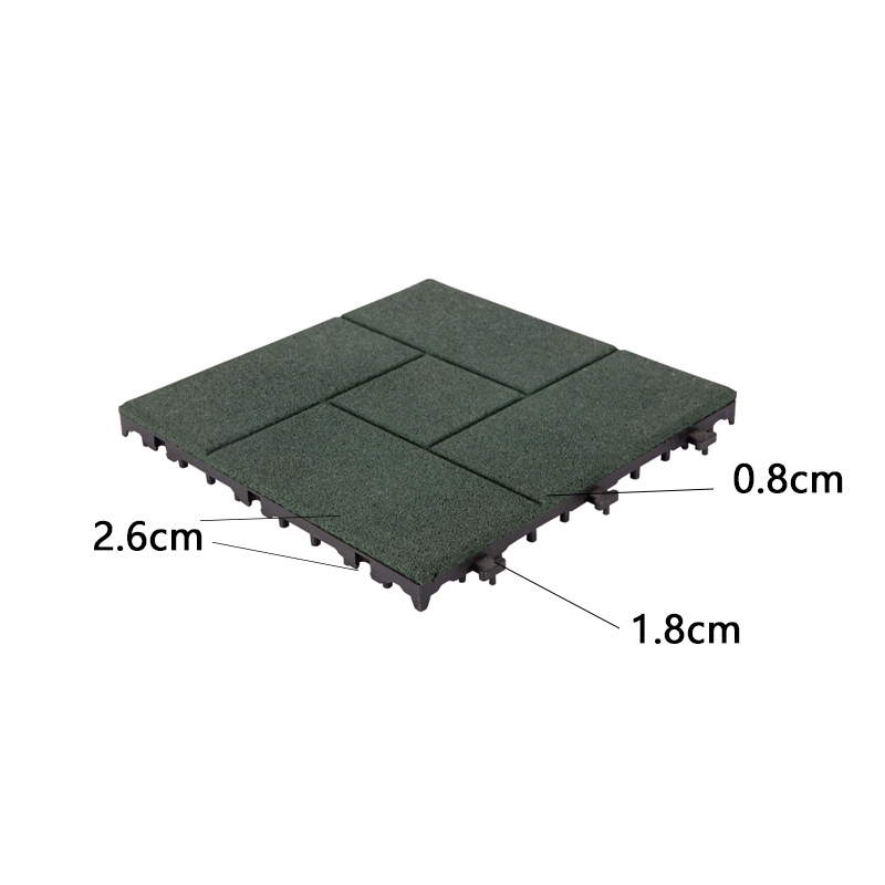 tiles balcony interlocking rubber mats square JIABANG Brand company