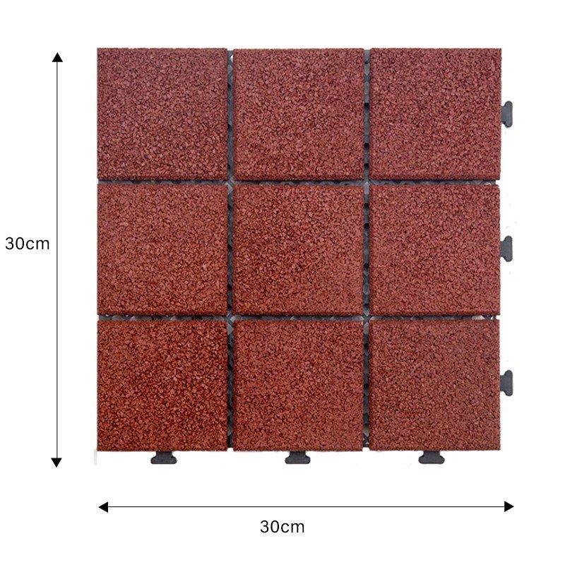 rubber patio tiles