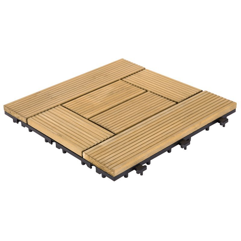 12x12 natural deck flooring wood tiles new design  S6P3030BL