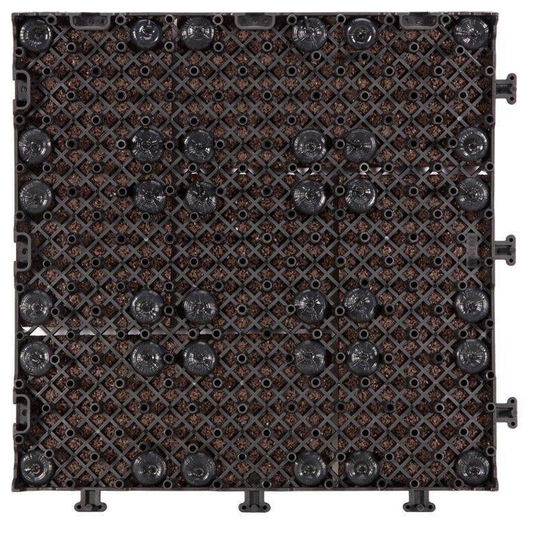 Interlocking Patio rubber floor tiles XJ-SBR-DBR003