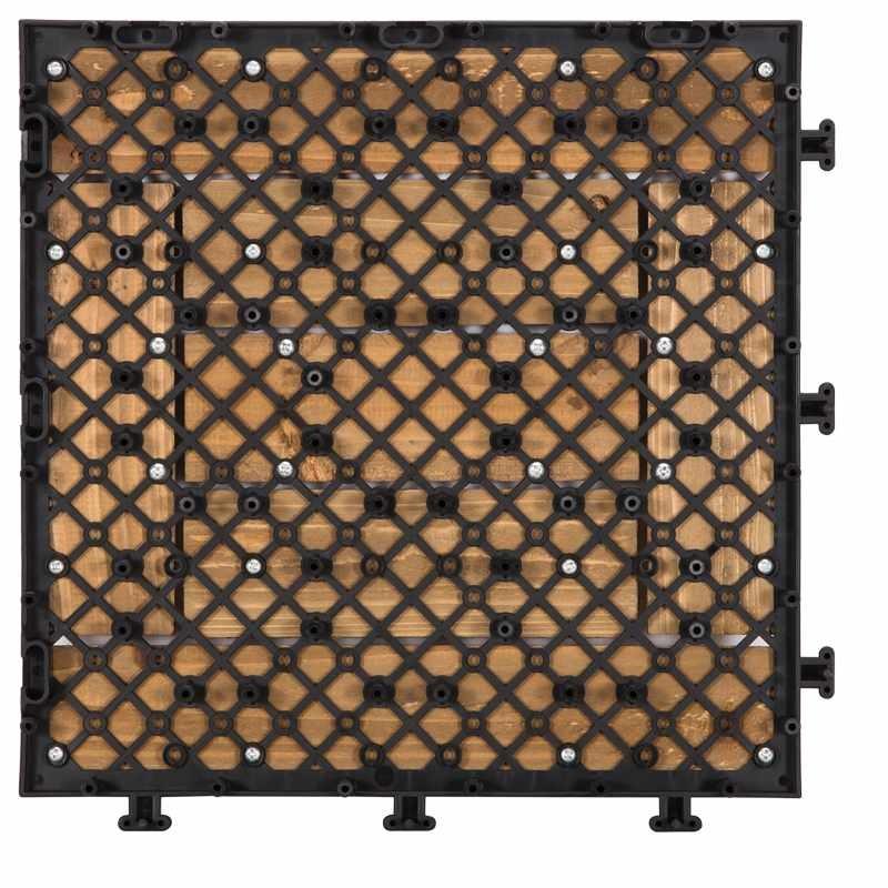 DIY wood floors interlocking tiles for balcony S7P3030BL