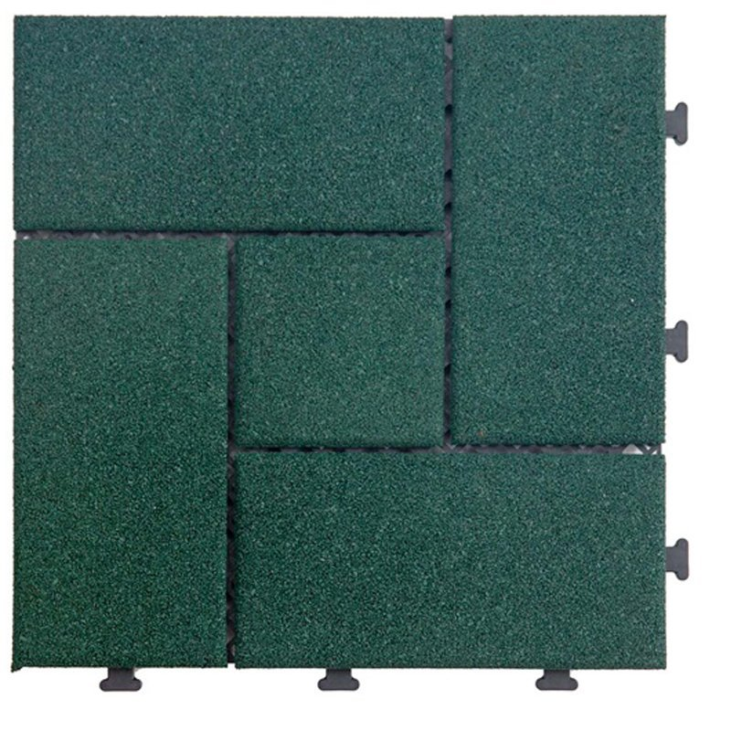 Outside Flooring sport court rubber tile XJ-SBR-GN003