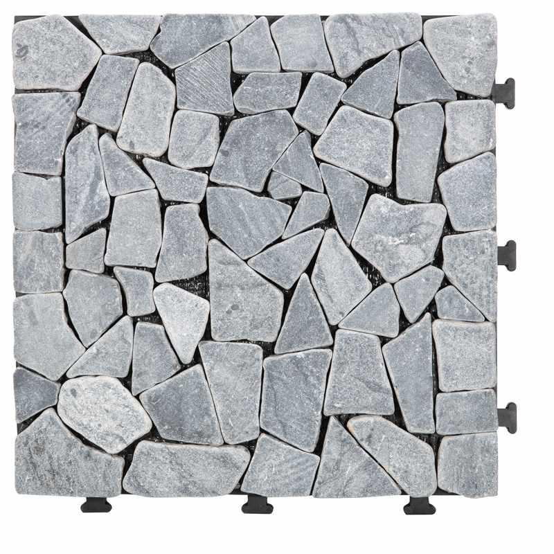 Natural travertine stone decking floor for garden path TTLNP-GY