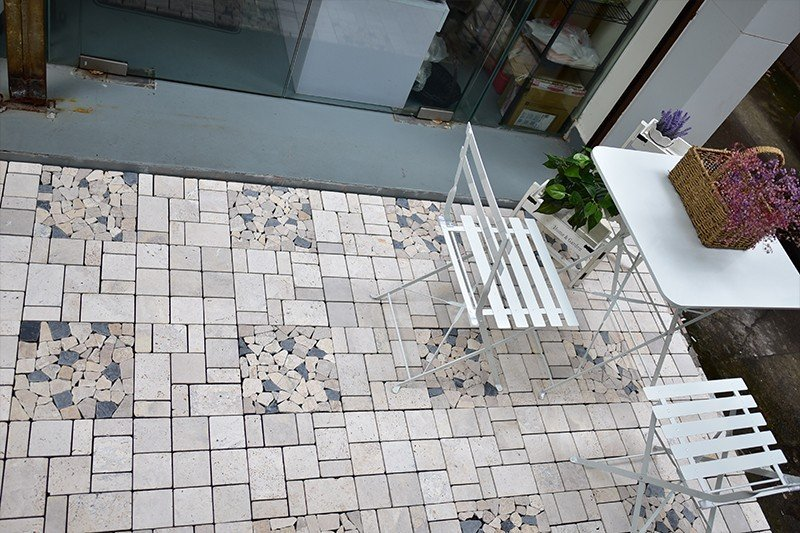 travertine stone click grey JIABANG Brand travertine deck tiles