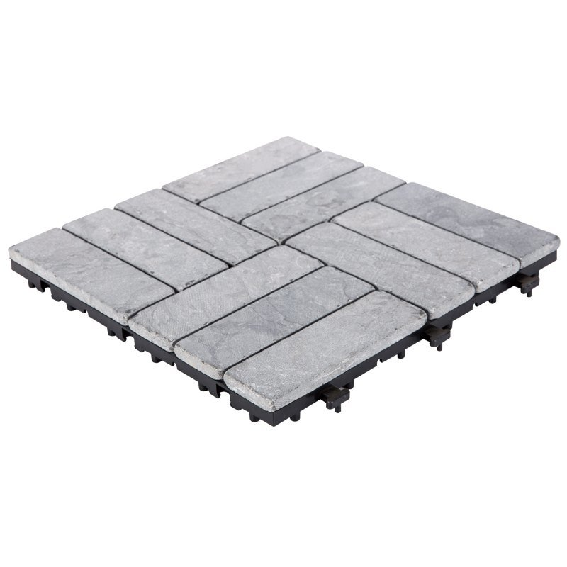Online outdoor interlocking floor limestone tile TTS12P-GY