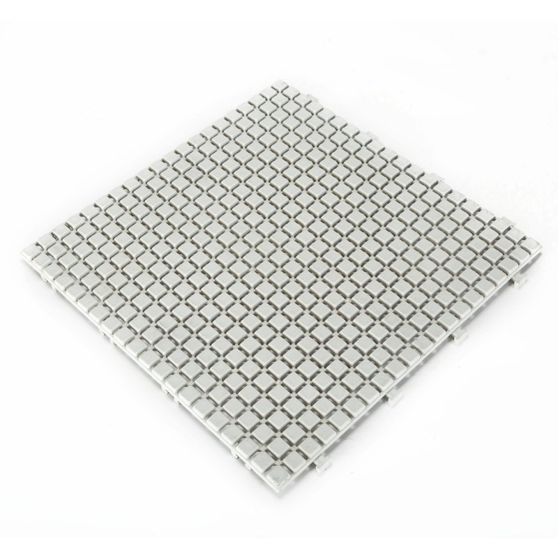 Non slip bathroom flooring plastic mat JBPL3030N cream
