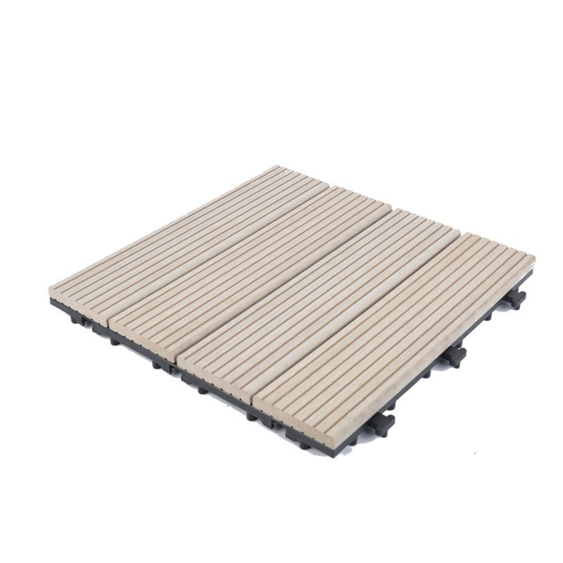 White color wpc composite decking tile for outdoor floor SM-4P-A WH