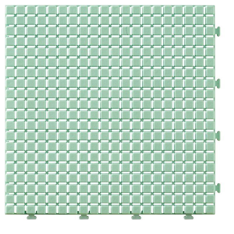 Non slip bathroom flooring plastic mat JBPL3030N green