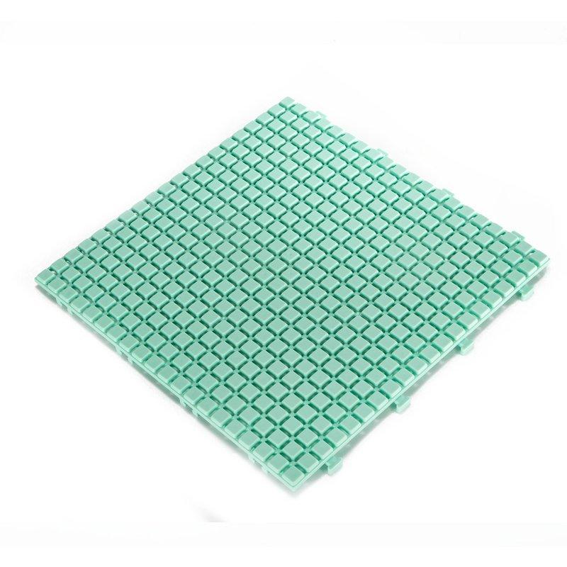Non slip bathroom flooring plastic mat JBPL3030N LT green