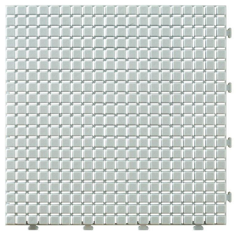 Non slip bathroom flooring plastic mat JBPL3030N off white