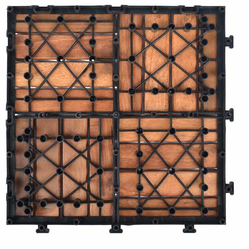Solid wood acaciadeck tile for outdoor flooring A16P3030PC