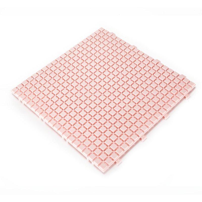 Non slip bathroom flooring plastic mat JBPL3030N pink