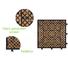 adjustable long garden square wooden decking tiles JIABANG manufacture