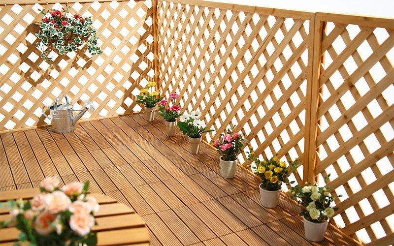 garden fir interlocking wood deck tiles patio JIABANG Brand