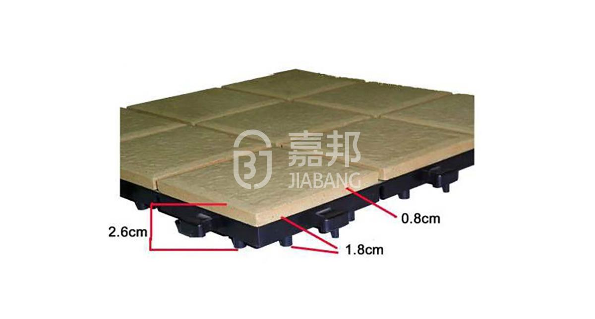 fitting decking tiles