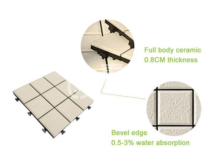 tile decking material