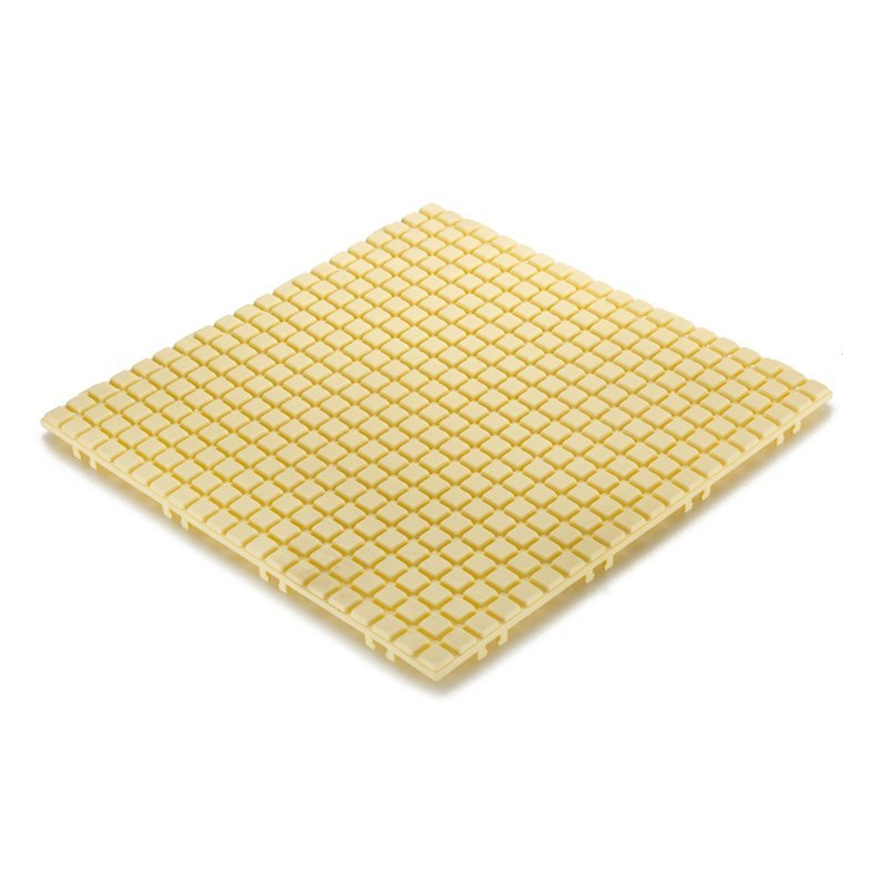 Non slip bathroom flooring plastic mat JBPL3030N yellow