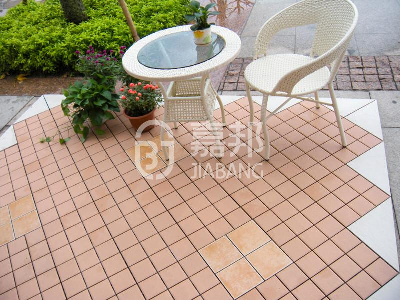 outdoor tile over wood deck