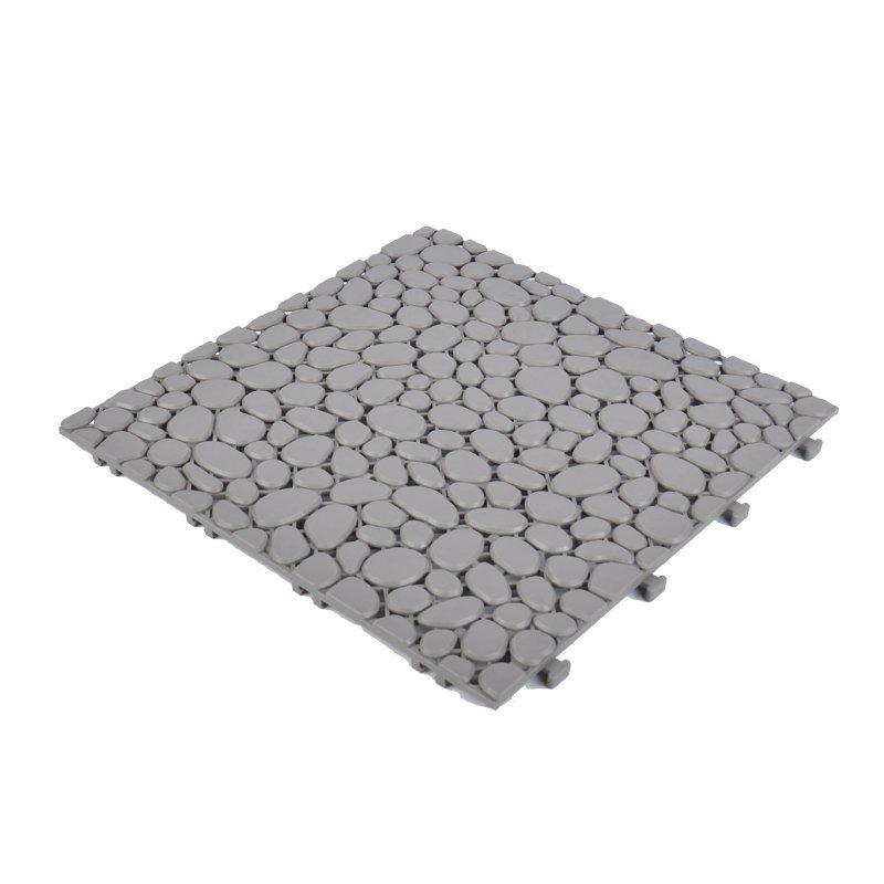 Non slip bathroom flooring plastic mat JBPL303PB grey